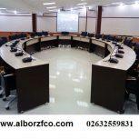 از تولیدبه مصرف-میز کنفرانس،میز اداری،قفسه،کتابخانه،فایل،کانتر،پارتیشن دو جداره و تک جداره