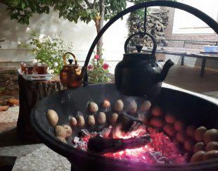 آتشدان با استیک پز